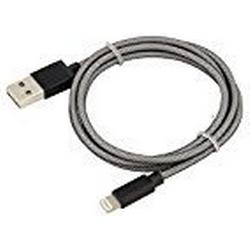 ANSMANN Apple Lightning Ladekabel 1m mit Nylon umflochten (MFi zertifiziert) USB Kabel für iPhone 5, iPhone 6, iPhone 7, iPad & iPod [Laden & Synchronisieren]